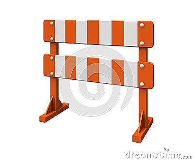 Orange barrier