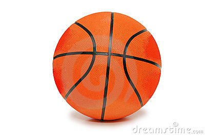 Orange Basketball getrennt