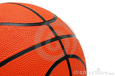 Orange basketball isolated