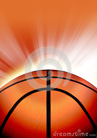 Orange Basketball Sport Background