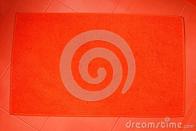 Orange Bath Mat Royalty Free Stock Photo Image 26385575