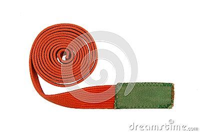 Orange belt isolated