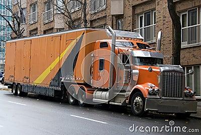 Orange big truck