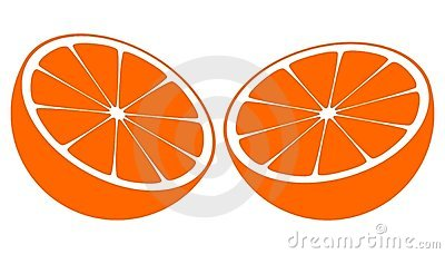 Orange Bisected In Half Royalty Free Stock Image - Image: 19980696