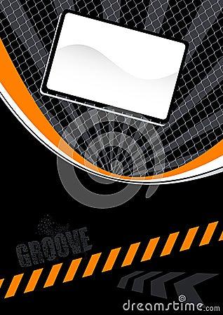 Orange and black layout