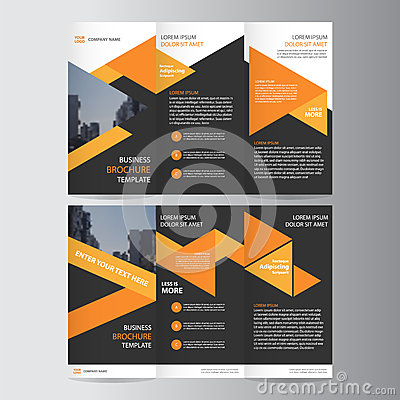Free Orange Black Trifold Leaflet Brochure Flyer Template Design, Book Cover Layout Design, Abstract Blue Presentation Templates Stock Images - 70769034