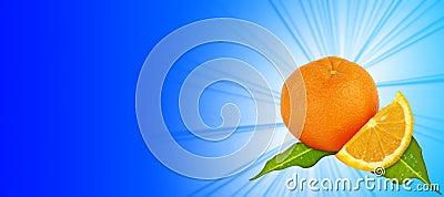 Orange - blue background