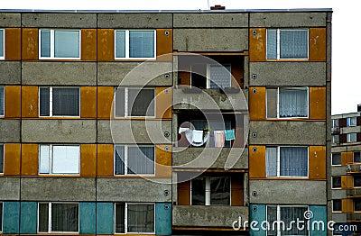 Orange and blue flats