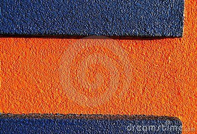 Orange & blue stucco 1