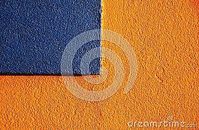Orange & blue stucco 3
