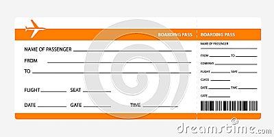 ... white background. Detailed blank of plane ticket. Vector illustration   400 x 200 jpeg 17kB