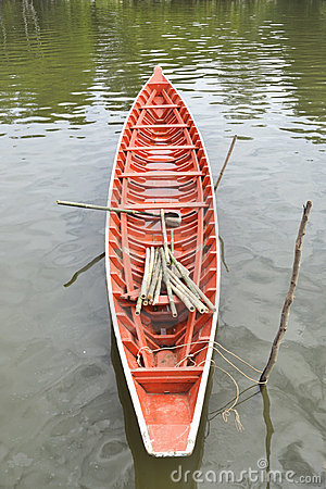 Orange boat.
