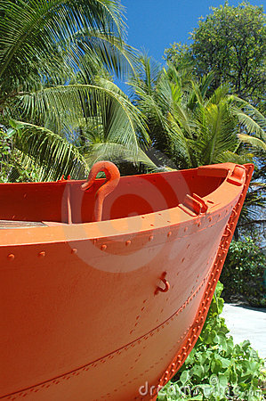 Orange boat beach Bequia St. Vincent