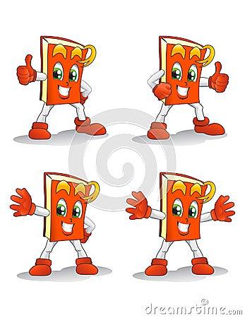 Orange book pose