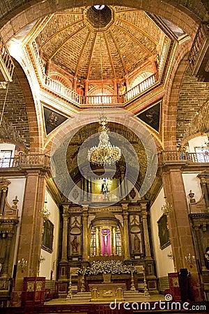Free Orange Brick Dome Parroquia Church Mexico Stock Images - 5404174