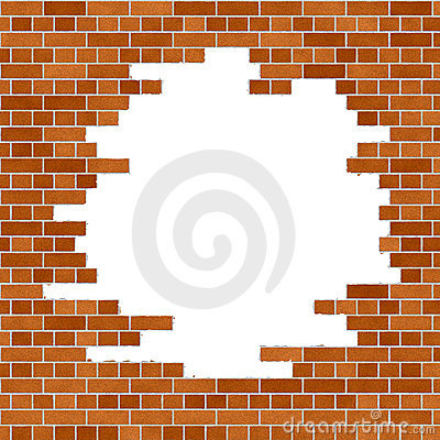 Free Orange Brick Wall Frame Royalty Free Stock Photo - 3341365