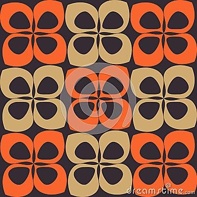 Orange and brown retro pattern
