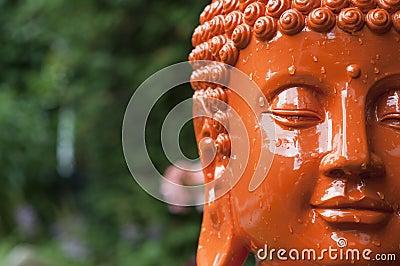 Orange Buddha Head