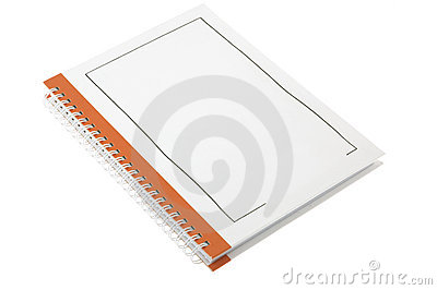 Orange business paper note book