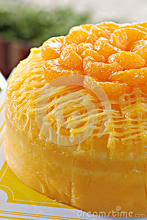 Free Orange Butter Cake Royalty Free Stock Photos - 25575808