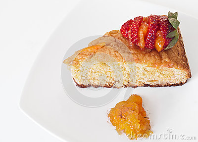 Orange Cake with Strawberry