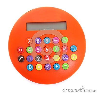 Free Orange Calculator Royalty Free Stock Image - 9018926