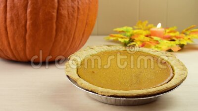 Candle Burning in Thanksgiving Theme stock video footage