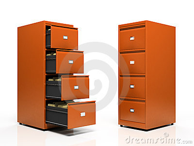 Orange card files