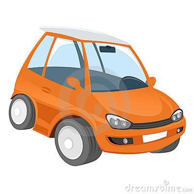Orange cartoon car