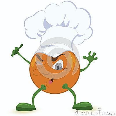 Orange-cartoon-character-in-chef-hat