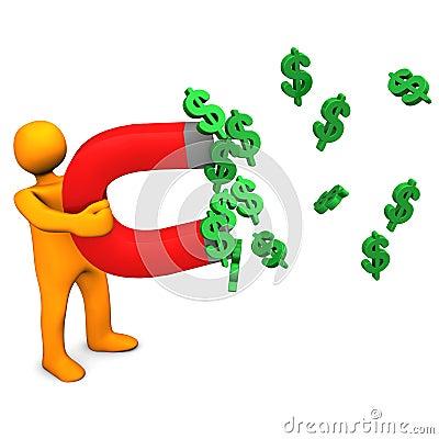 Mainikin Dollars Magnet