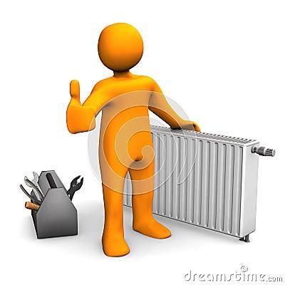 Plumber Heater Ok Stock Image Image 29778891