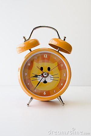 Orange Cat Clock