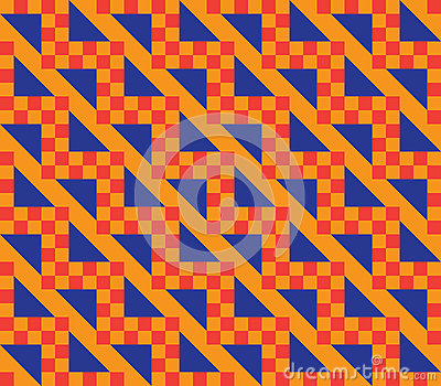 Orange checkered pattern