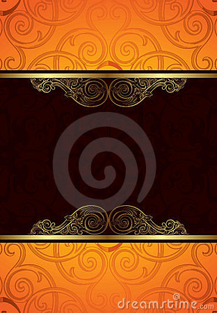 Orange Chocolate Background