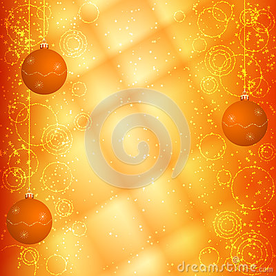 Orange christmas background