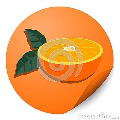 Orange circle stick