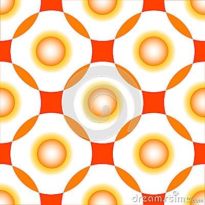 Orange circles seamless pattern