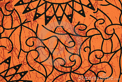 Orange cloth pattern