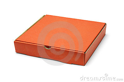 Orange color pizza takeaway box