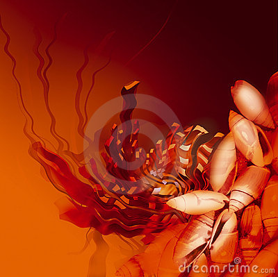 Free Orange Color Underwater Abstract Illustration Royalty Free Stock Image - 1273866