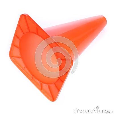 Free Orange Cone Used Warning Sign Under Construction Work Area Stock Photos - 57005833
