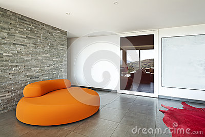 Orange confortable de fauteuil