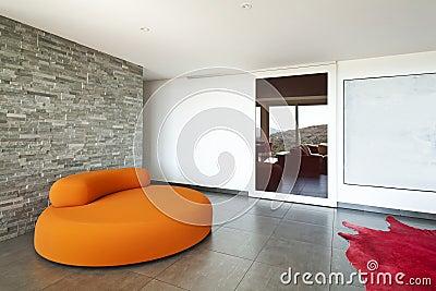 Orange confortable de fauteuil
