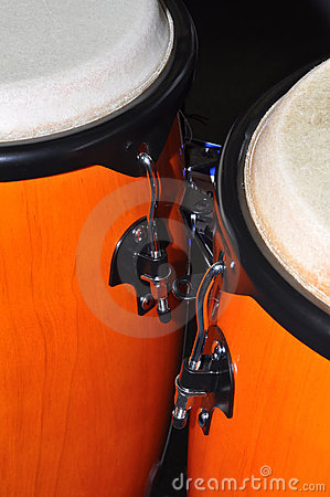 Orange Congas isolated on black background