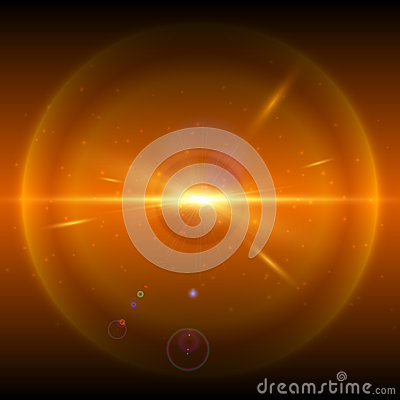 Orange cosmic explosion, vector illustration