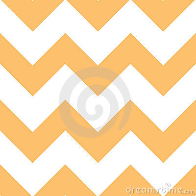 Orange Creme Chevron Pattern