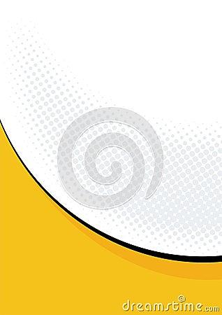 Orange curve on white