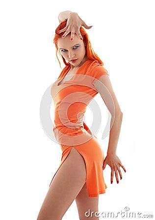 Free Orange Dance Royalty Free Stock Photo - 3466595