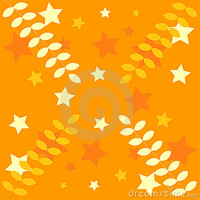 Orange decoration:stars,leaves